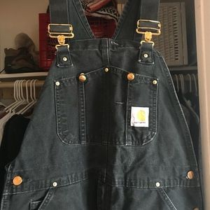 Dark navy blue carhartt overalls